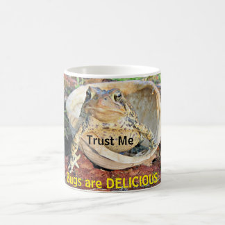 Trust Me Bugs Are Delicious Toad In Turtle Shell Coffee Mug