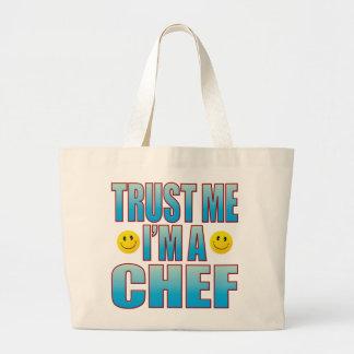 Trust Me Chef Life B Large Tote Bag