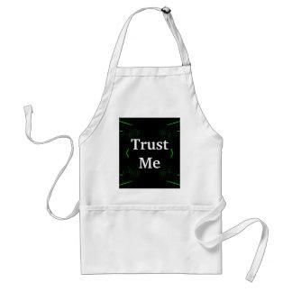 Trust Me Design White on Black Aprons