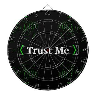 Trust Me Design White on Black Dartboard