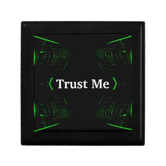Trust Me Design White on Black Gift Box