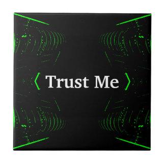 Trust Me Design White on Black Ceramic Tiles