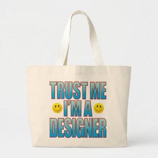 Trust Me Designer Life B Large Tote Bag