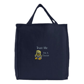 Trust Me Duck Embroidered Tote Bag