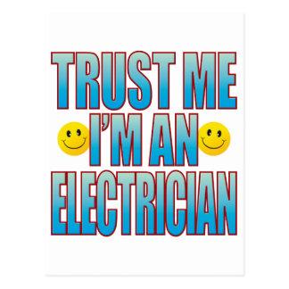 Trust Me Electrician Life B Postcard