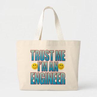 Trust Me Engineer Life B Large Tote Bag