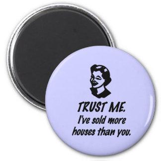 Trust Me - female 2 Inch Round Magnet