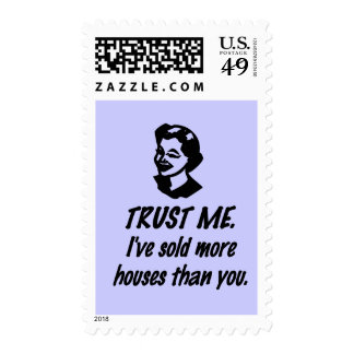 Trust Me - female Postage Stamps