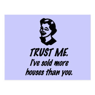 Trust Me - female Postcard