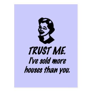Trust Me - female Post Card