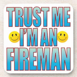 Trust Me Fireman Life B Beverage Coaster
