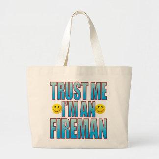 Trust Me Fireman Life B Large Tote Bag
