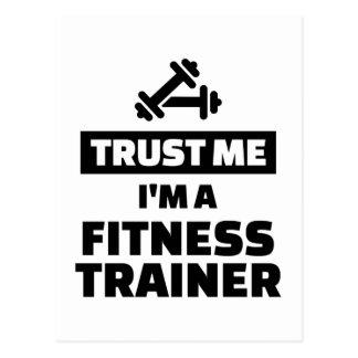 Trust me fitness trainer postcard