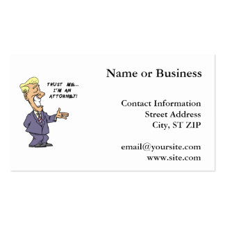 Trust Me I am an Attorney Business Card