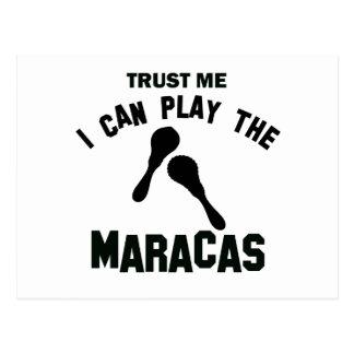 Trust me I can play the maracas Postcard