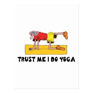 Trust Me I Do Yoga Gift Postcard