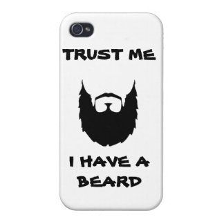 Trust me i have a beard cool funny humor facial ha iPhone 4/4S cover