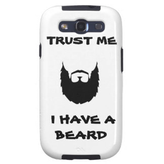 Trust me I have a Beard funny facial hair mustache Samsung Galaxy SIII Cover