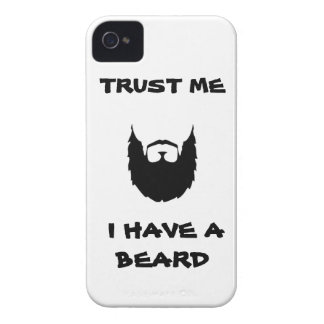 Trust me I have a Beard funny facial hair mustache Case-Mate iPhone 4 Cases