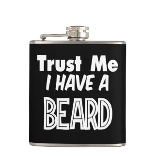 Trust Me I Have a Beard Funny Flask