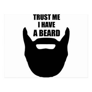 Trust Me I Have A Beard Postcard
