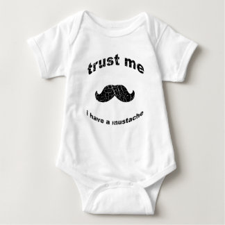 Trust me i have a mustache baby bodysuit