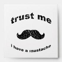 mustache, funny, trust me, vintage, gentlemen, stache, retro, beard, moustache, mustache gifts, man, boss, 80s, sweet, fresh, goofy, great, old, enveloppe, Envelope com design gráfico personalizado