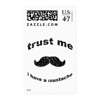 Trust me i have a mustache postage stamp