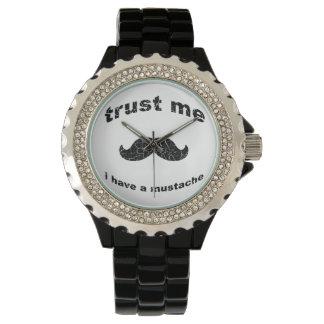 Trust me i have a mustache wristwatch