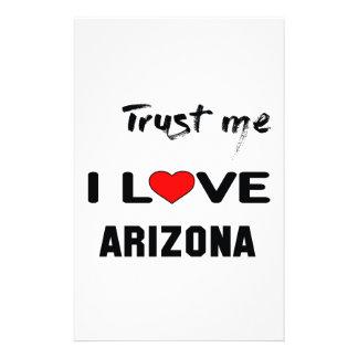 Trust me I love ARIZONA. Stationery