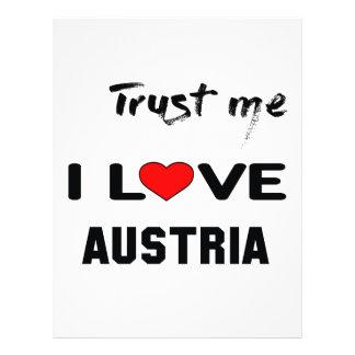 Trust me I love Austria. Letterhead