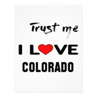 Trust me I love COLORADO. Letterhead