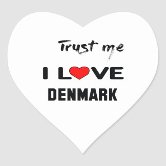 Trust me I love Denmark. Heart Sticker