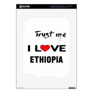 Trust me I love Ethiopia. iPad 3 Decal