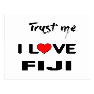 Trust me I love Fiji. Postcard