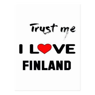Trust me I love Finland. Postcard