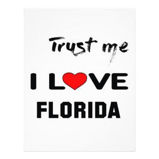 Trust me I love FLORIDA. Letterhead