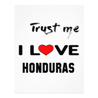 Trust me I love Honduras. Letterhead