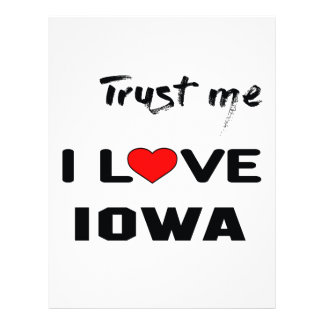Trust me I love IOWA. Letterhead