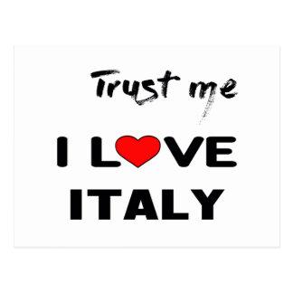 Trust me I love Italy. Postcard