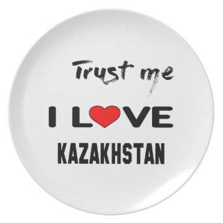 Trust me I love Kazakhstan. Dinner Plate