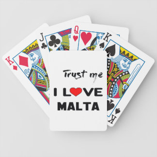 Trust me I love Malta. Bicycle Playing Cards