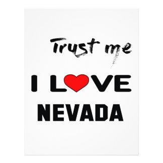 Trust me I love NEVADA. Letterhead
