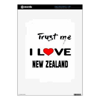 Trust me I love New Zealand. Skin For iPad 2