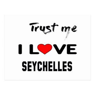 Trust me I love Seychelles. Postcard