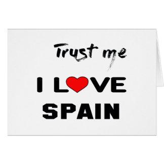 Trust me I love Spain. Card