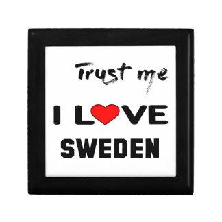 Trust me I love Sweden. Keepsake Box