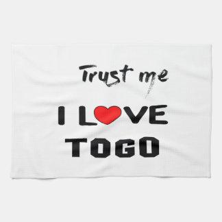 Trust me I love Togo. Hand Towel