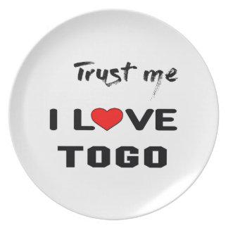 Trust me I love Togo. Melamine Plate