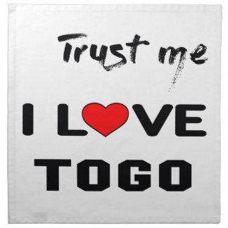 Trust me I love Togo. Napkin